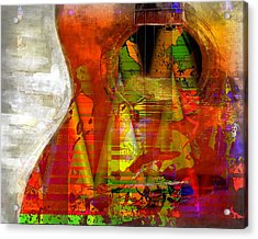 The Guitar Acrylic Print by Contemporary Art