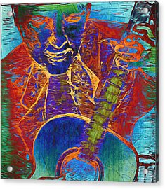 The Guitar Man - Two Acrylic Print