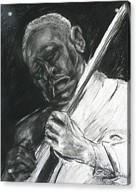 The Guitar Player Acrylic Print by Patrick Mills