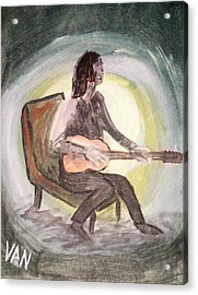 The Guitar Player Acrylic Print
