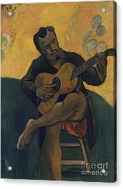 The Guitarist Acrylic Print by Paul Gauguin
