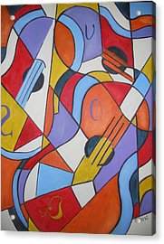 The Guitars Acrylic Print by Brandi  Hickman