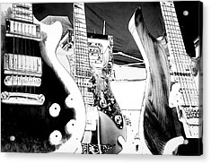 The Guitars Acrylic Print by David Patterson