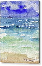 Acrylic Print featuring the painting The Gulf by Kris Parins