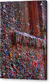 The Gum Wall - Seattle Acrylic Print by David Patterson