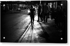 The Guy - Chicago, United States - Black And White Street Photography Acrylic Print