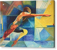 The Gymnast  Acrylic Print by Benedict Olorunnisomo