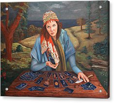The Gypsy Fortune Teller Acrylic Print by Enzie Shahmiri