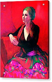 The Gypsy Skirt Acrylic Print by Roz McQuillan