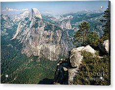 The Half Dome Yosemite Np Acrylic Print by Daniel Heine