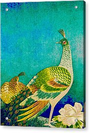 The Handsome Peacock - Kimono Series Acrylic Print