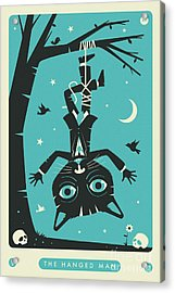 The Hanged Man Tarot Card Cat Acrylic Print