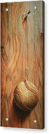 The Hanging Baseball Acrylic Print