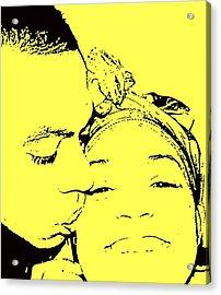 The Happy Couple  Acrylic Print by D R TeesT