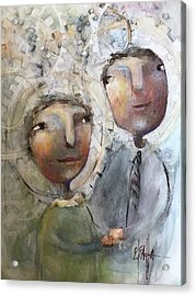 The Happy Couple Acrylic Print by Eleatta Diver