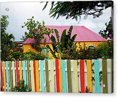 Acrylic Print featuring the photograph The Happy House, Island Of Curacao by Kurt Van Wagner