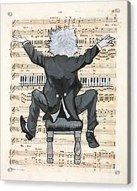 The Happy Pianist Acrylic Print by Paul Helm