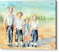 The Happy Wranglers Acrylic Print