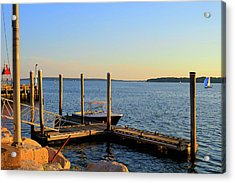 Acrylic Print featuring the photograph The Harbor Bristol Rhode Island by Tom Prendergast
