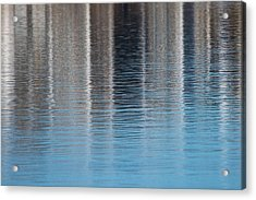 Acrylic Print featuring the photograph The Harbor Reflects by Karol Livote