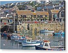 The Harbour Inn Porthleven Acrylic Print