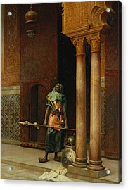 The Harem Guard  Acrylic Print by Ludwig Deutsch