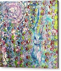 The Hare's Meadow Acrylic Print by Julie Engelhardt