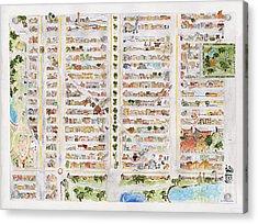 The Harlem Map Acrylic Print