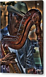 The Harp Player Acrylic Print by David Patterson