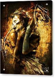 Acrylic Print featuring the digital art The Harpy by Nada Meeks