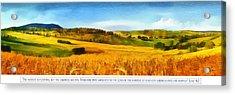 The Harvest Is Plentiful Acrylic Print by Dale Jackson