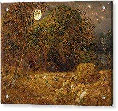 The Harvest Moon Acrylic Print by Samuel Palmer