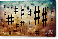 Acrylic Print featuring the digital art The Hashtag Storm by Andee Design