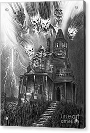 The Haunted House Acrylic Print by Wave Art