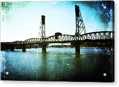 The Hawthorne Bridge Acrylic Print by Cathie Tyler
