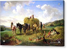 The Hay Harvest Acrylic Print by Hermann Kauffmann