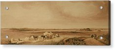 The Hayfield Acrylic Print by Peter de Wint