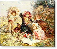 The Haymakers Acrylic Print by Frederick Morgan