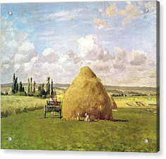 The Haystack Acrylic Print by Camille Pissarro