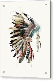The Headdress Acrylic Print by Bri B