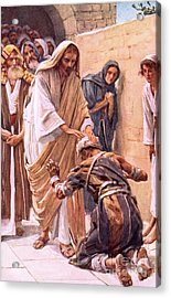 The Healing Of The Leper Acrylic Print by Harold Copping