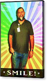 Acrylic Print featuring the mixed media The Healing Smile Mosaic by Shawn Dall