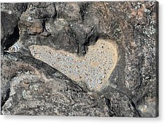 The Heart In Stone Acrylic Print by rd Erickson