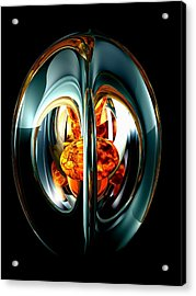 The Heart Of Chaos Abstract Acrylic Print by Alexander Butler