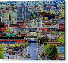 The Heart Of Downtown Spokane  Acrylic Print