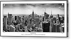 The Heart Of New York Poster Print Acrylic Print by Az Jackson