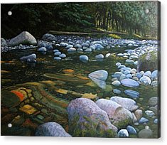 The Heart Of Quartz Creek Acrylic Print by Ron Smothers