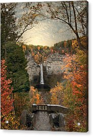 The Heart Of Taughannock Acrylic Print