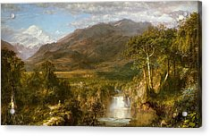 The Heart Of The Andes Acrylic Print by Frederic Edwin Church