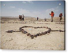 The Heart Of The Desert Acrylic Print by Yoel Koskas